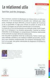 Relationnel Utile - 4ème de couverture - Format classique