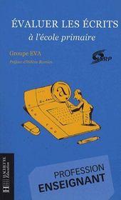 Évaluer les écrits à l'école primaire - Couverture - Format classique