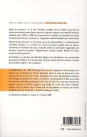 Nouvelles complètes t.3 ; 1972-1996 - 4ème de couverture - Format classique