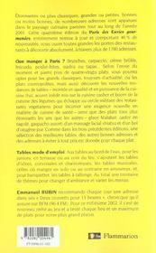 Paris Des Envies Gourmandes 2002 - 4ème de couverture - Format classique