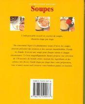 Soupes - 4ème de couverture - Format classique