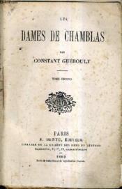 Les Dames De Chamblas - Tome Second. - Couverture - Format classique