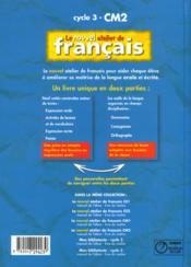 L'ATELIER DE FRANCAIS ; CM2 ; livre de l'élève - 4ème de couverture - Format classique
