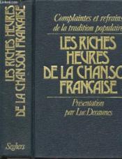 Les Riches Heures De La Chanson Francaise - Couverture - Format classique