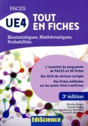 PACES UE4 tout en fiches ; mathématiques, probabilités, biostatistiques - Couverture - Format classique