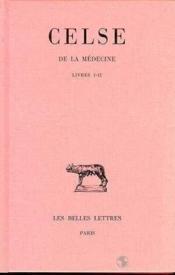 De la medecine t.1 ; LI-II - Couverture - Format classique
