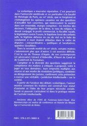 L'autorité des maîtres ; scolastique, normes et société au XIII siècle - 4ème de couverture - Format classique