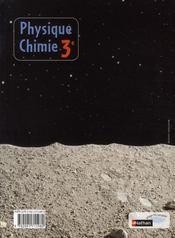 Physique-chimie ; 3ème ; manuel de l'élève (édition 2008) - 4ème de couverture - Format classique