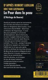 La peur dans la peau ; l'héritage Bourne - 4ème de couverture - Format classique