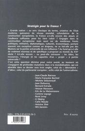 REVUE AGIR T.34 ; stratégie pour la France - 4ème de couverture - Format classique