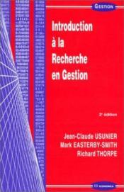 Introduction A La Recherche En Gestion ; 2e Edition - Couverture - Format classique