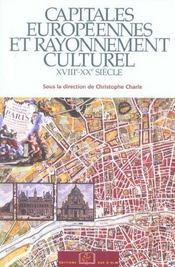 Capitales européennes et rayonnement culturel ; XVIII-XX siècle - Intérieur - Format classique