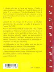 Tipe Physique Mode D'Emploi - 4ème de couverture - Format classique