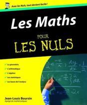Les maths pour les nuls - Couverture - Format classique