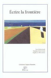Ecrire La Frontiere - Intérieur - Format classique