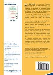 Bien Debuter En Mathematiques ; Nombres Réels, Suites ; Bien Débuter En Mathématiques - 4ème de couverture - Format classique