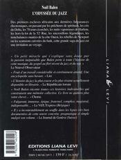 L'Odyssee Du Jazz - 4ème de couverture - Format classique