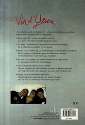 Vin d'yeux - 4ème de couverture - Format classique