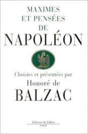 Maximes et pensees de napoleon - Couverture - Format classique