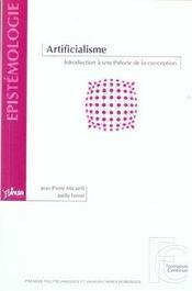 Artificialisme introduction a une theorie de la conception - Intérieur - Format classique