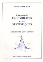 Elements De Probabilites Et De Statistiques - Couverture - Format classique