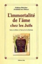 L'immortalité de l'âme chez les Juifs ; selon la Bible, le Talmud et la Kabbale - Couverture - Format classique