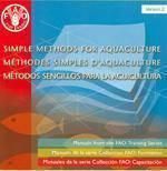 Simple methods for aquaculture. manuals from the fao training series. version 2 (trinlingual en/fr/e - Couverture - Format classique