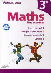 Réussir au collège ; maths ; 3ème - Couverture - Format classique