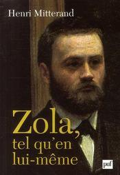 Zola, tel qu'en lui-même - Couverture - Format classique
