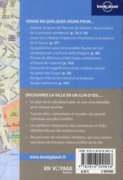 Venise en quelques jours (2e édition) - 4ème de couverture - Format classique
