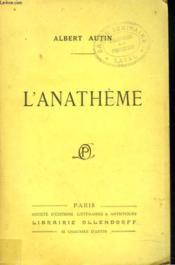 L'Anatheme - Couverture - Format classique