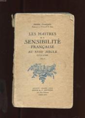 LES MAITRES DE LA SENSIBILITE FRANCAISE AU XVIIIe SIECLE (1715-1789) TOME 1 - Couverture - Format classique