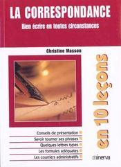 La Correspondance ; Bien Ecrire En Toute Circonstance - Intérieur - Format classique