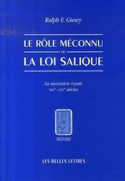 Le rôle méconnu de la loi salique ; la succession royale ; XIV-XVIe siècles - Intérieur - Format classique