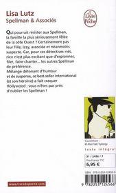 Spellman et associés - 4ème de couverture - Format classique