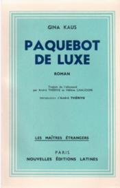 Paquebot de luxe - Couverture - Format classique