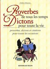 Proverbes De Tous Temps Dictons P/Vie - Intérieur - Format classique