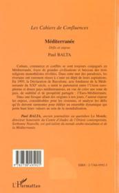 Mediterranee ; Defis Et Enjeux - 4ème de couverture - Format classique