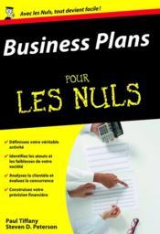 Business plans pour les nuls - Couverture - Format classique