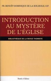 Introduction au mystère de l'église - Intérieur - Format classique