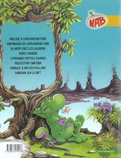 Les tribulations apeupréhistoriques de Nabuchodinosaure T.9 ; prehistoric games - 4ème de couverture - Format classique