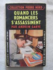 Quand les romanciers s'assassinent - Couverture - Format classique