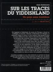 Sur les traces du Yiddishland ; un pays sans frontières - 4ème de couverture - Format classique