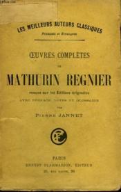 Oeuvres Completes De Regnier. - Couverture - Format classique