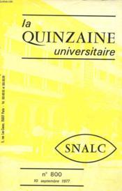 La Quinzaine Universitaire N°800 - Couverture - Format classique