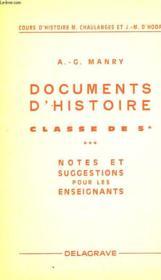 Documents D'Histoire - Couverture - Format classique