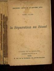 La séparation au Sénat - Couverture - Format classique