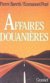 Affaires douanieres - Couverture - Format classique