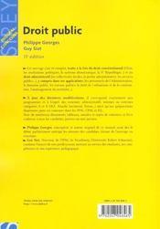 Droit Public ; 13e Edition - 4ème de couverture - Format classique