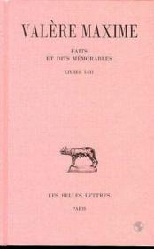 Faits & dits memorables t1 l1-3 - Couverture - Format classique